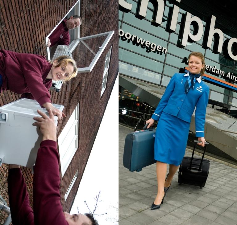 Beroepen – verhuizer, stewardes