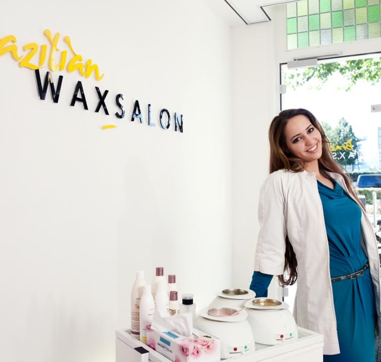 Witte jas – wax salon